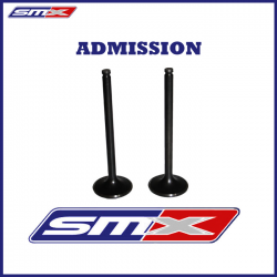 Lot de 2 soupapes admission pour 660 Raptor Rhino Grizzly : 30mm