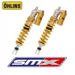 Amortisseurs avant Ohlins long travel entraxe 505mm TRX 450 R