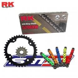 Kit chaîne RK renforcé pour quad Yamaha 450 YFZ R